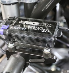 dashes and data loggers is simple a v net cable power and ground are the only basics you need our iq3 is held in place by a team z motorsports race  [ 1200 x 800 Pixel ]