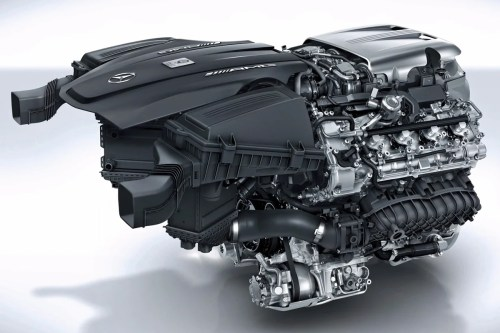 small resolution of this twin turbocharged 4 0 liter v8 engine from the amg gt c however is the exact opposite the intake ports feed from the outside of the engine by two