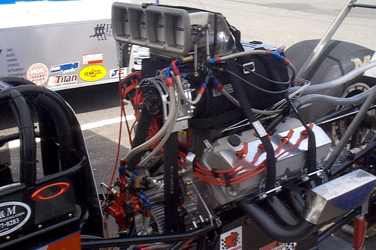 hight resolution of blower overdrive can be adjusted to compensation for air density changes in many supercharged drag racing engines