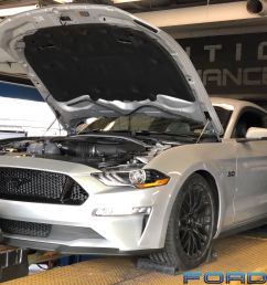 evolution performance s fred cook wasted no time modding his brand new 2018 mustang gt auto with a carefully chosen selection of bolt ons from jlt  [ 3600 x 2699 Pixel ]