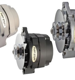 alternator tuff stuff s alternators are available in chrome cast plus polished aluminum and powdercoated amp ratings range from 100 to 160  [ 1800 x 1134 Pixel ]