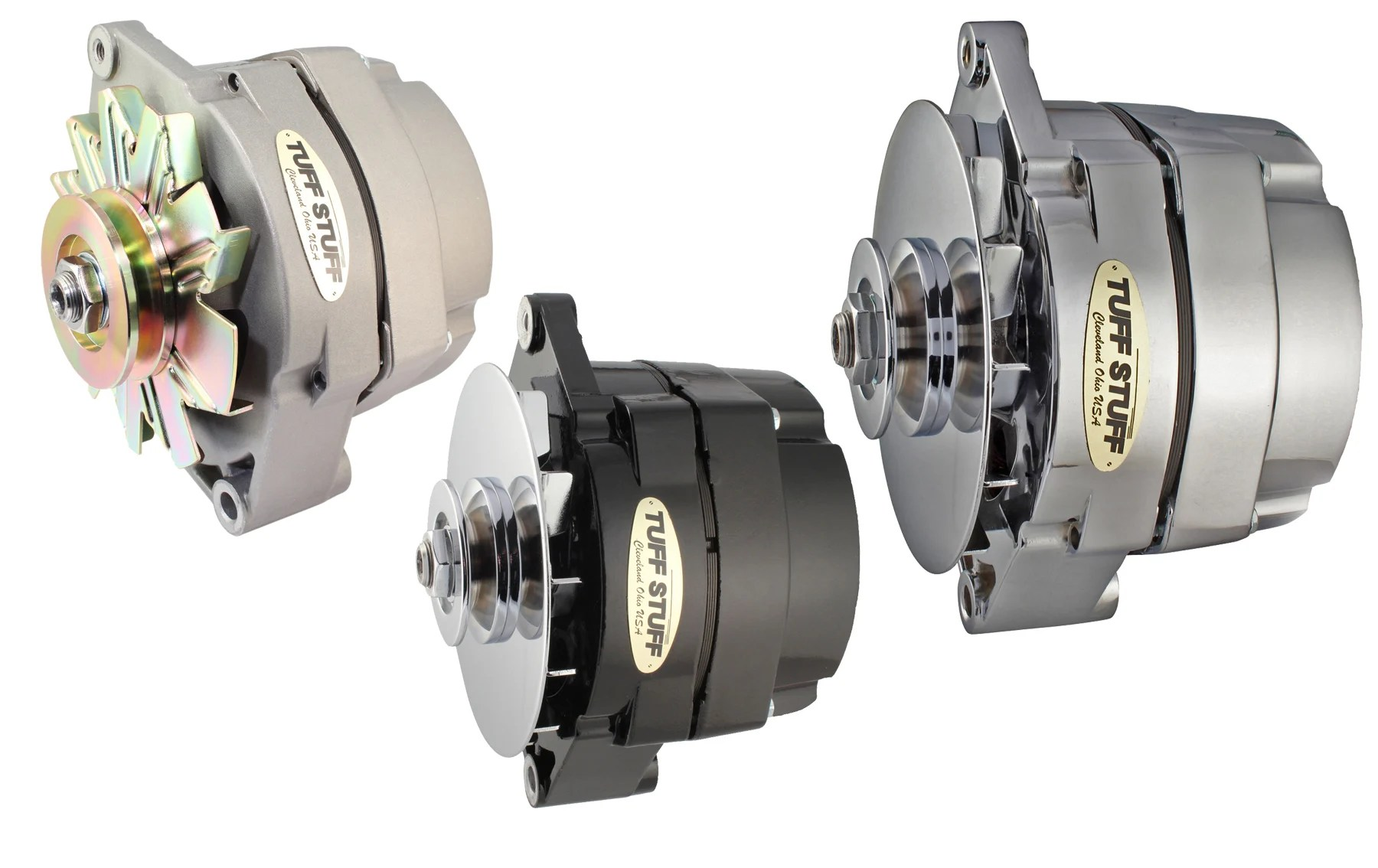 hight resolution of alternator tuff stuff s alternators are available in chrome cast plus polished aluminum and powdercoated amp ratings range from 100 to 160