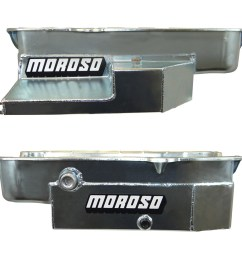 new from moroso the steel circle track racing oil pan for sbc this oil pan is designed for limited sprints and other low ground clearance chassis without  [ 1500 x 900 Pixel ]