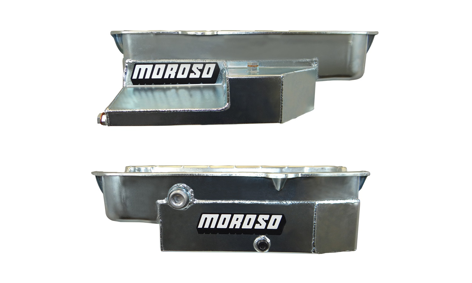 hight resolution of new from moroso the steel circle track racing oil pan for sbc this oil pan is designed for limited sprints and other low ground clearance chassis without