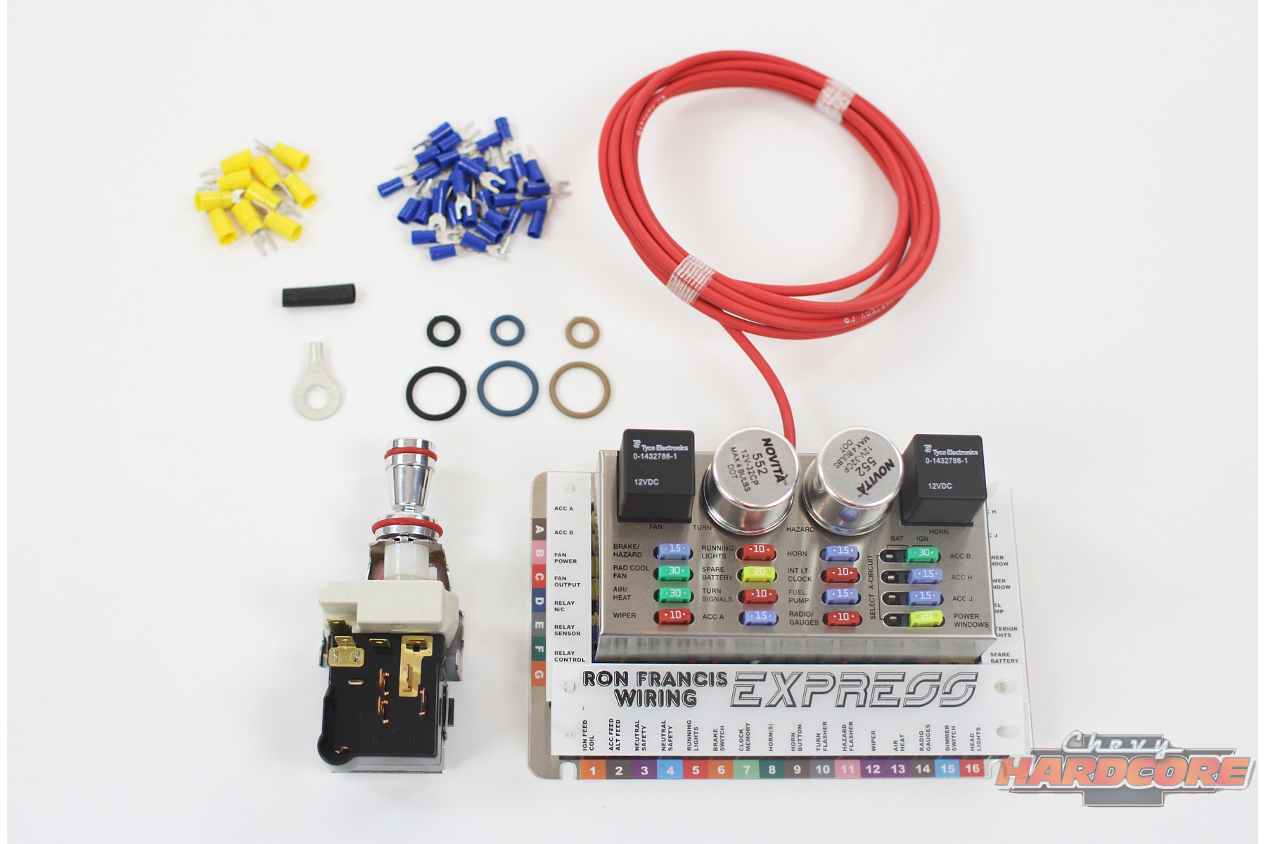 hight resolution of the express 16 fuse kit comes with all the wiring necessary to wire the car now and add accessories in the future