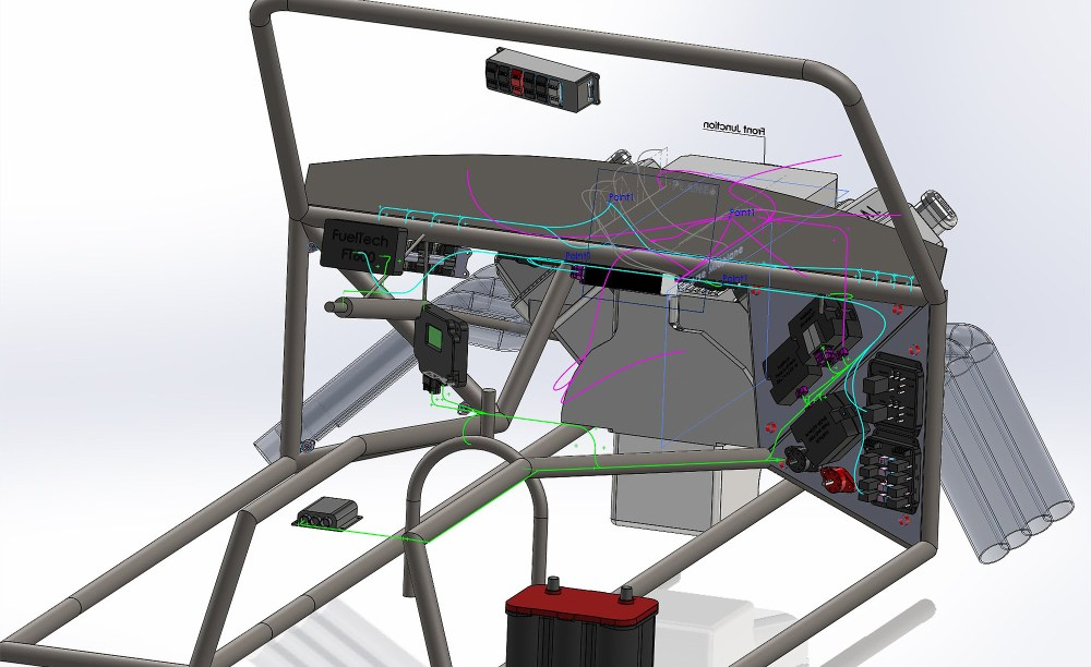 medium resolution of with careful measuring and entry of the dimensions into a 3d cad system jeff jordan precisely creates the electrical harness sections without needing to