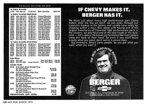 If Chevy makes it Berger has it posted by Ron Westphal Chevrolet in Aurora, IL near Naperville, IL