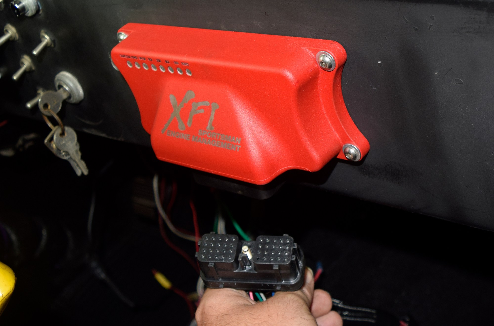 hight resolution of fast includes a large two inch grommet to seal and protect all harness wiring passing between the engine bay and interior the ecu was mounted on the