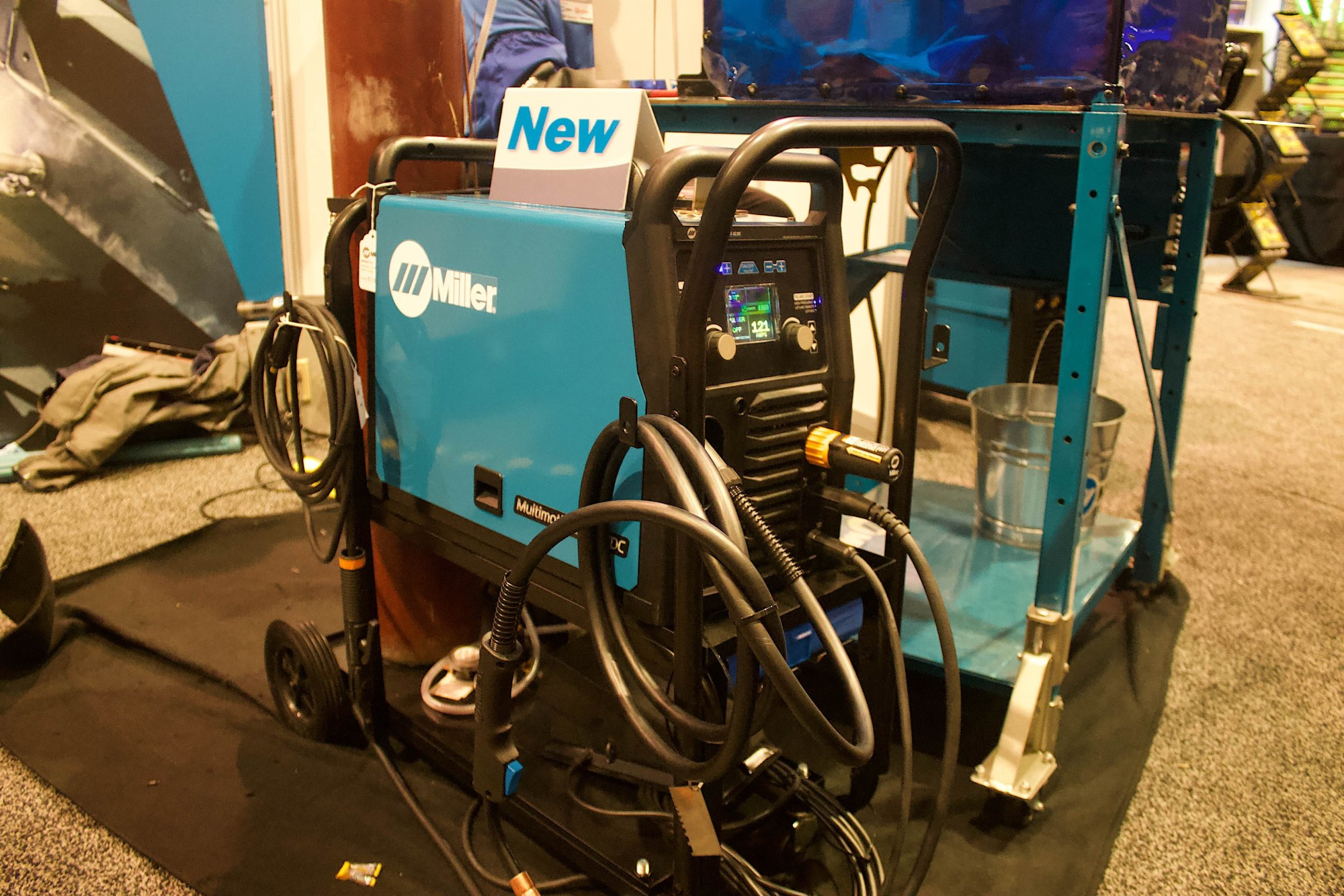 hight resolution of what we did was re engineer the machine and came up with this new one multimatic 220 that comes with mig stick tig dc ac it does flux core as well