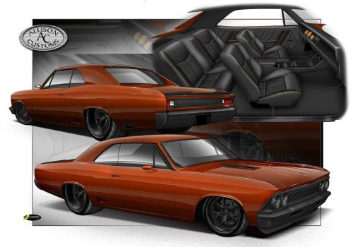 small resolution of combine the magic of an artist a skilled builder and an abundance of killer aftermarket parts and this old chevelle lucked out when it was plucked from