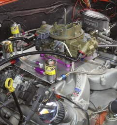 converting an ls engine to a carburetor is actually pretty easy unbolt the factory intake bolt on an intake like this edelbrock performer rpm and a holley  [ 1200 x 800 Pixel ]