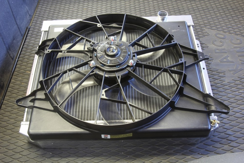medium resolution of mounting the mk8 fan to this holley frostbite radiator will require cutting some access holes in the built in shroud always mount an electric fan to