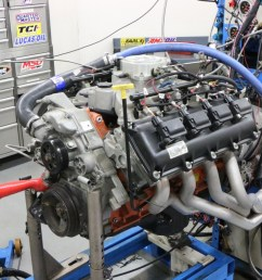 our hemi test mule began life as a 5 7l mopar crate motor unseen are the ported 5 7l heads and comp cams beehive spring upgrade  [ 1200 x 800 Pixel ]