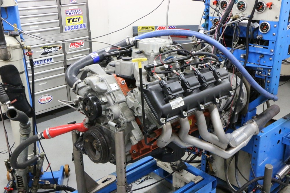 medium resolution of our hemi test mule began life as a 5 7l mopar crate motor unseen are the ported 5 7l heads and comp cams beehive spring upgrade