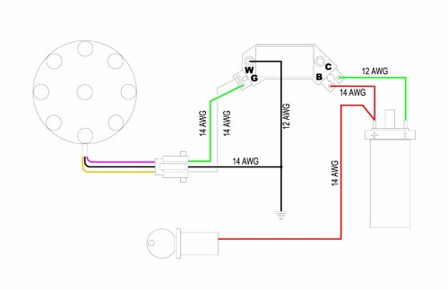 small resolution of this schematic shows the connections necessary to wire up the hei module to any magnetic pickup distributor note the distributor we re using has three