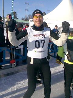 Björn Larsson i mål…