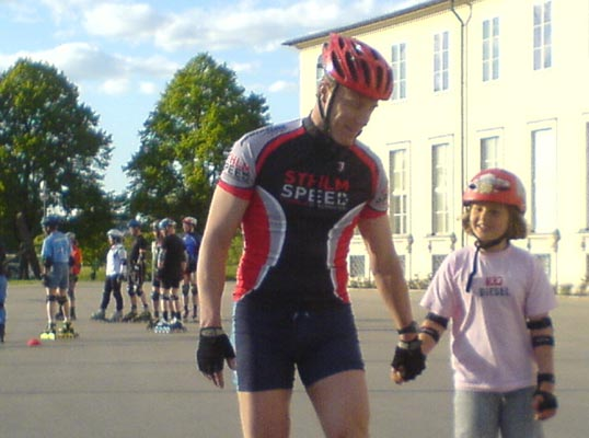 Nybörjarträning_2008-05-27. Mobilkamerafoto: Ulf Haase.