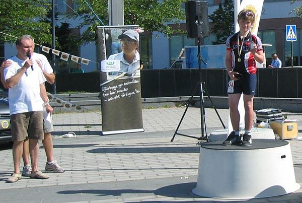 NDS-08. Erik Lundqvist vid prisutdelningen. Foto: Thomas Lundqvist.
