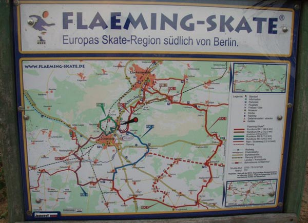 Flaeming-skate, karta.