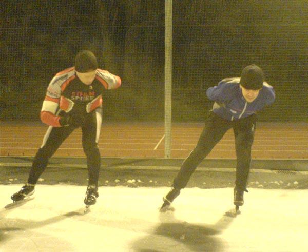 Teknikträning Ö–stermalms IP 2009-01-13. Mobilkamerafoto: Ulf Haase.