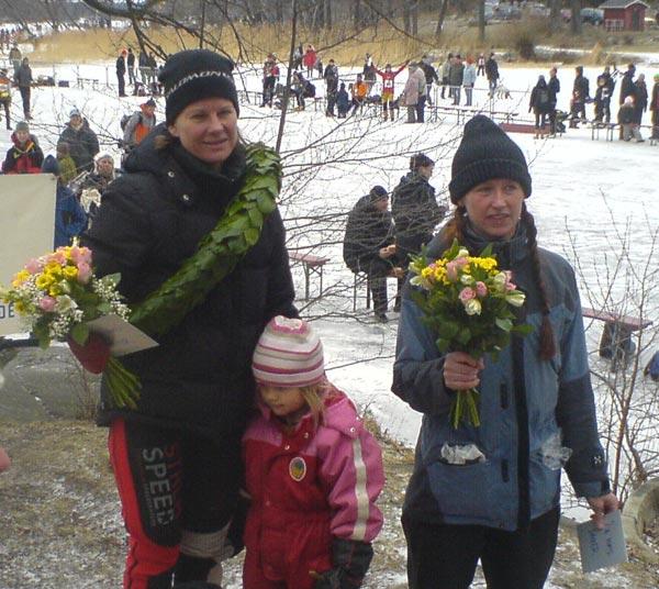 Vikingarännet 15 feb 2009, vinnare damklass. Moabilkamerafoto: Ulf Haase.