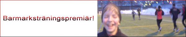 Barmarksträning 2010-03-30. Mobilkamerafoto: Ulf Haase.