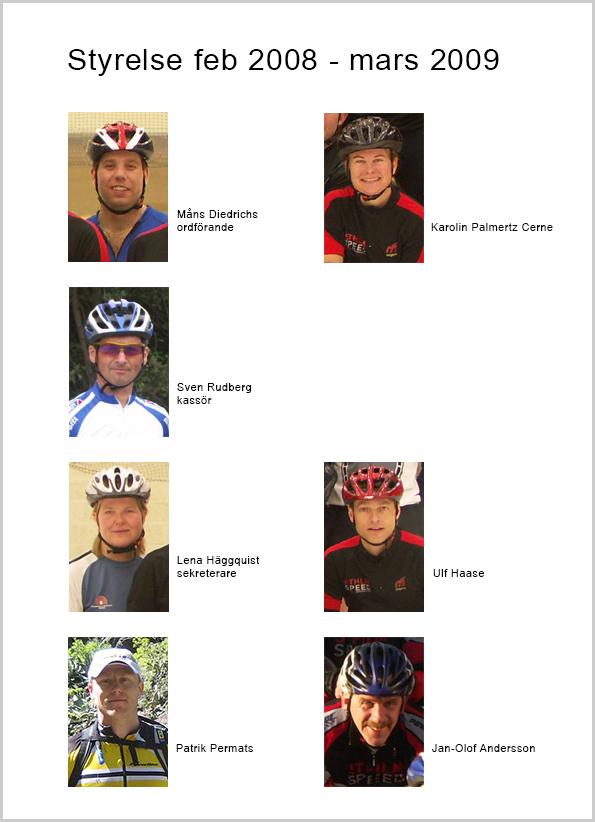 Sthlm Speeds styrelse 2008-03