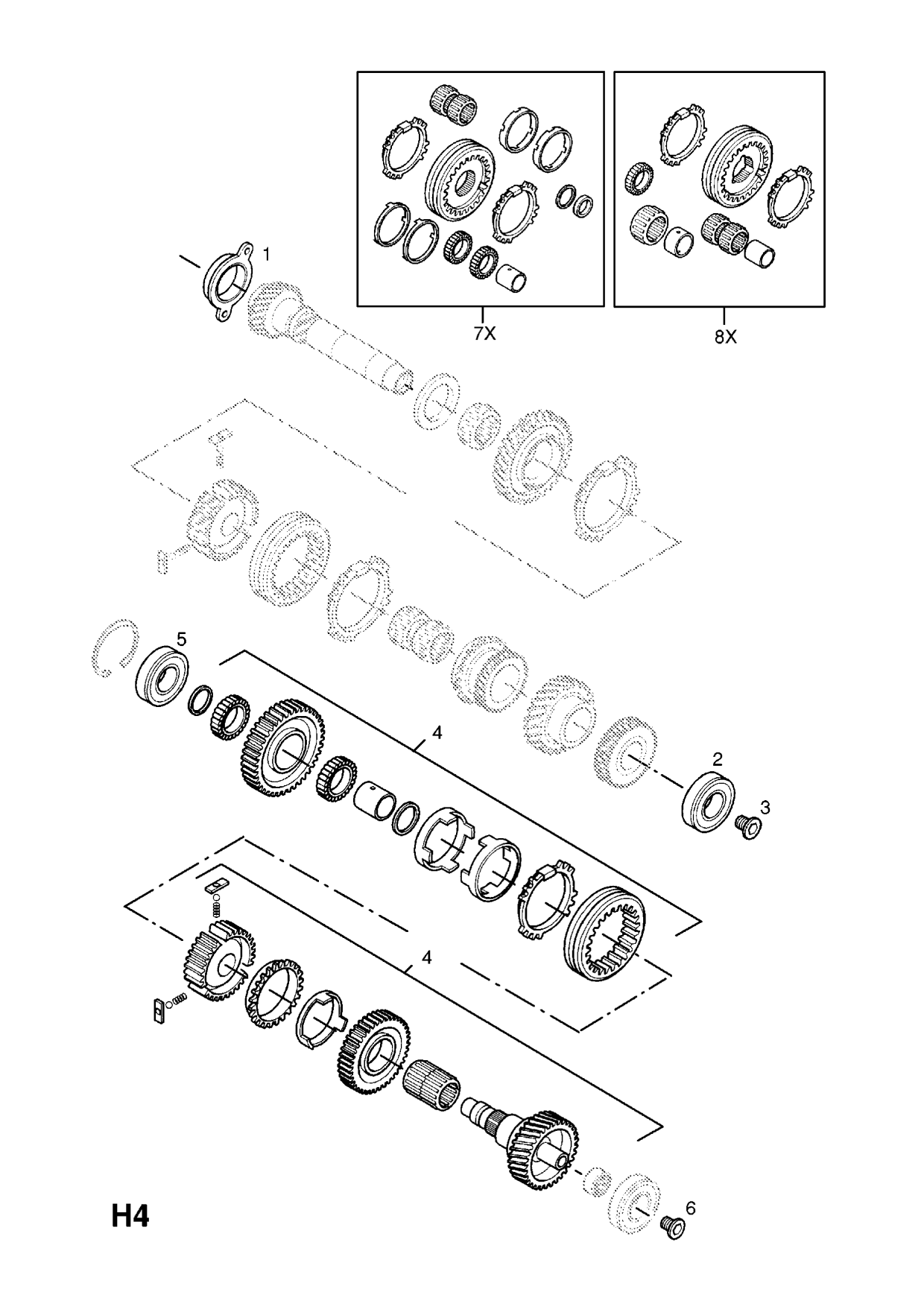 Group H Transmission Subsection 1 F23 Manual transmission