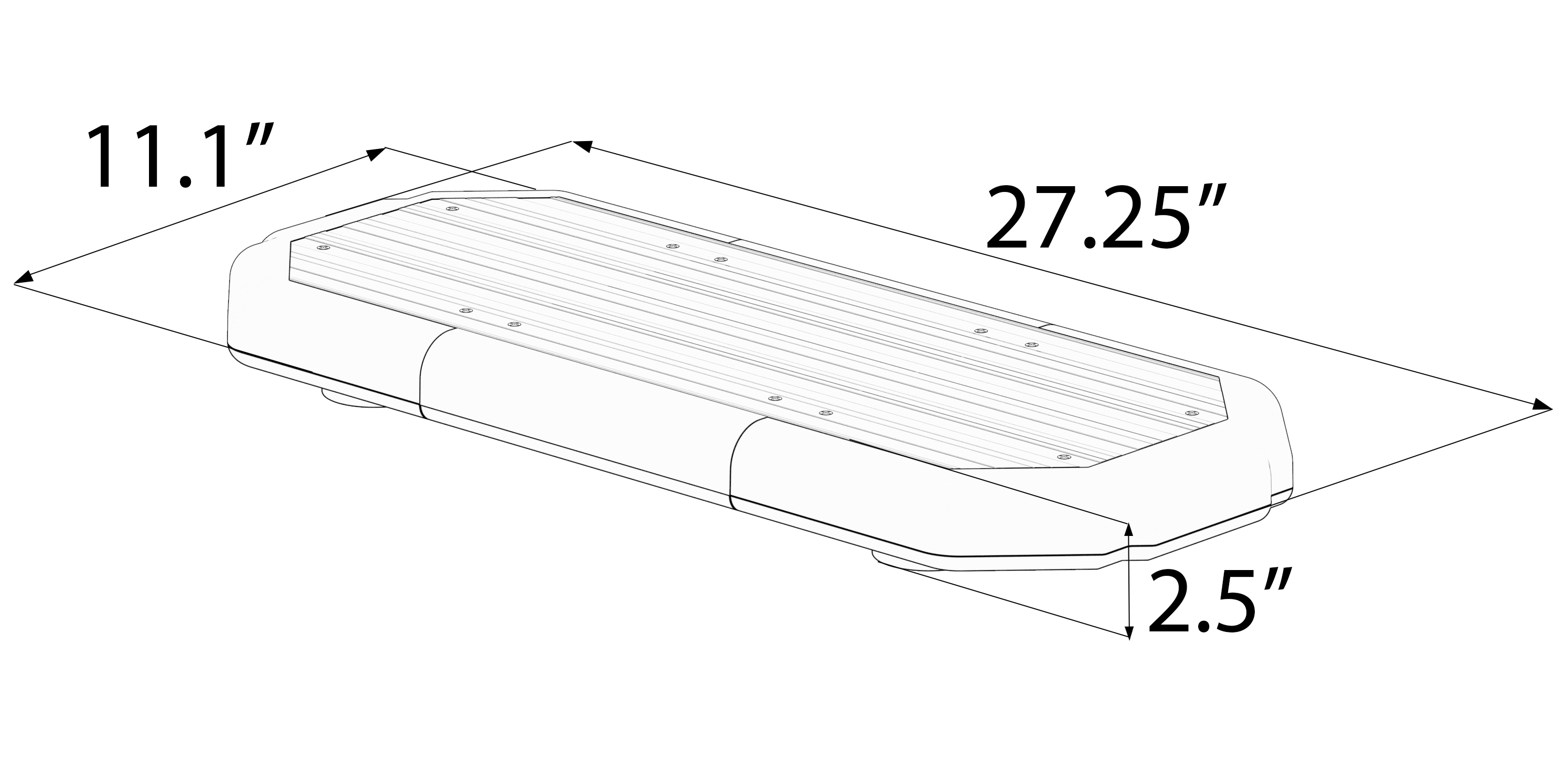 K Force 27 Linear Led Mini Light Bar