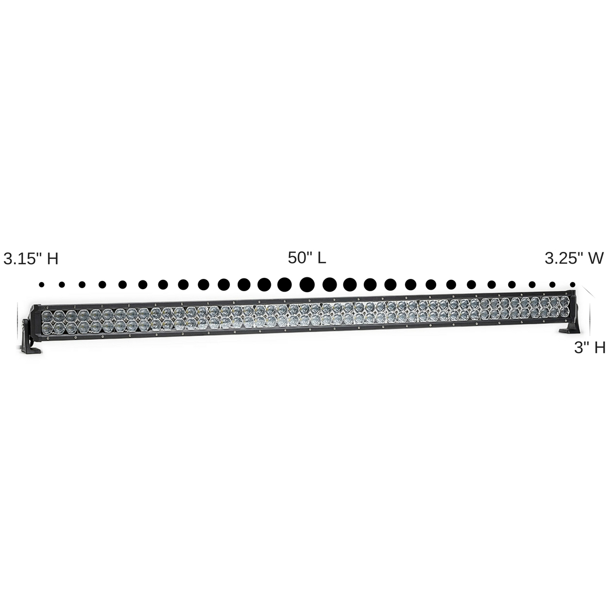 Dual Carbine 50 Hybrid Off Road Led Light Bar W Dc50h