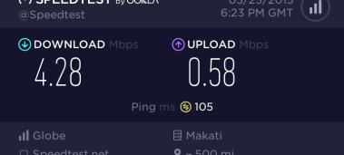 Average internet speed at Beach Apartment
