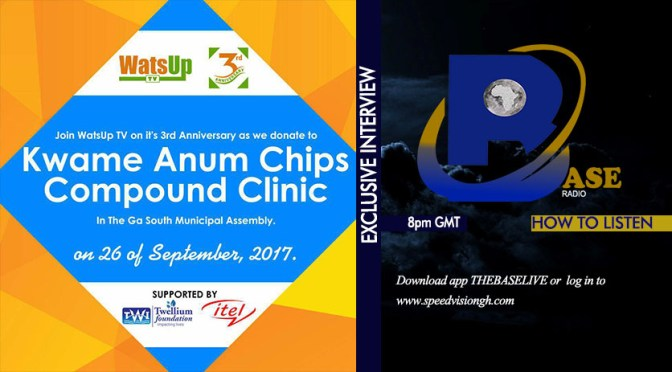 WATSUP TV DONATE TO KWAME ANIM CHIPS COMPOUND CLINIC