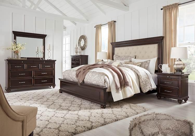 brynhurst dark brown bedroom set