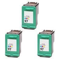 HP #97 Color 3-Pack Ink Cartridges (C9363W) $6.50 each