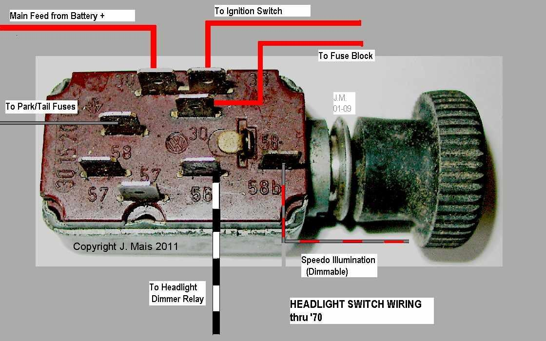 71 vw bus wiring diagram humbucker 3 way switch electrics headlight 211941531 - forum vzi, europe's largest vw, community and sales