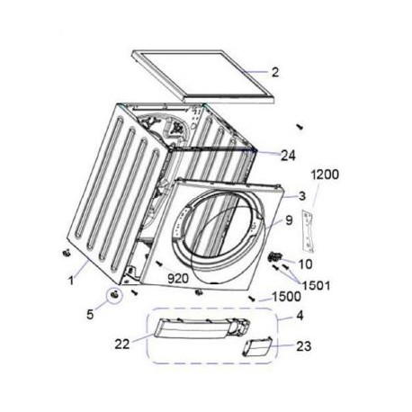 ESV80HA Sharp Washing Machine Exploded Diagram
