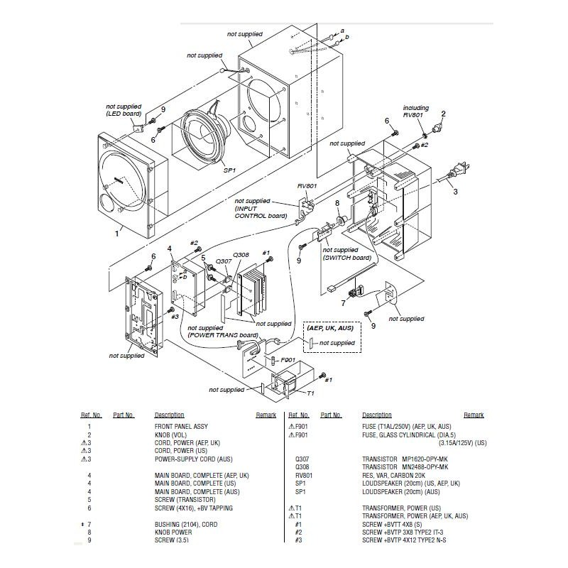 SAWP890 Sony Audio Exploded Diagram ED-SAWP890