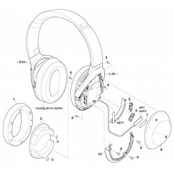WH1000XM2 Sony Headphone Exploded Diagram