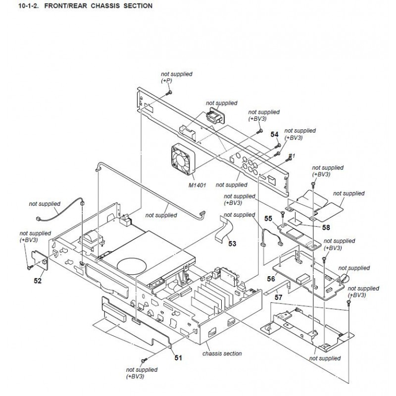 BDP-S560 Sony Blu-ray Player Exploded Diagram