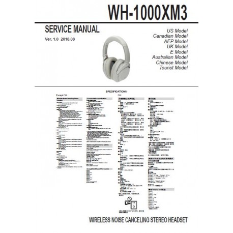 Sony WH1000XM3 Service Manual