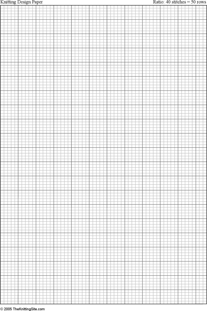 Free a4 Knitting Graph Paper, Ratio 4:5, Portrait