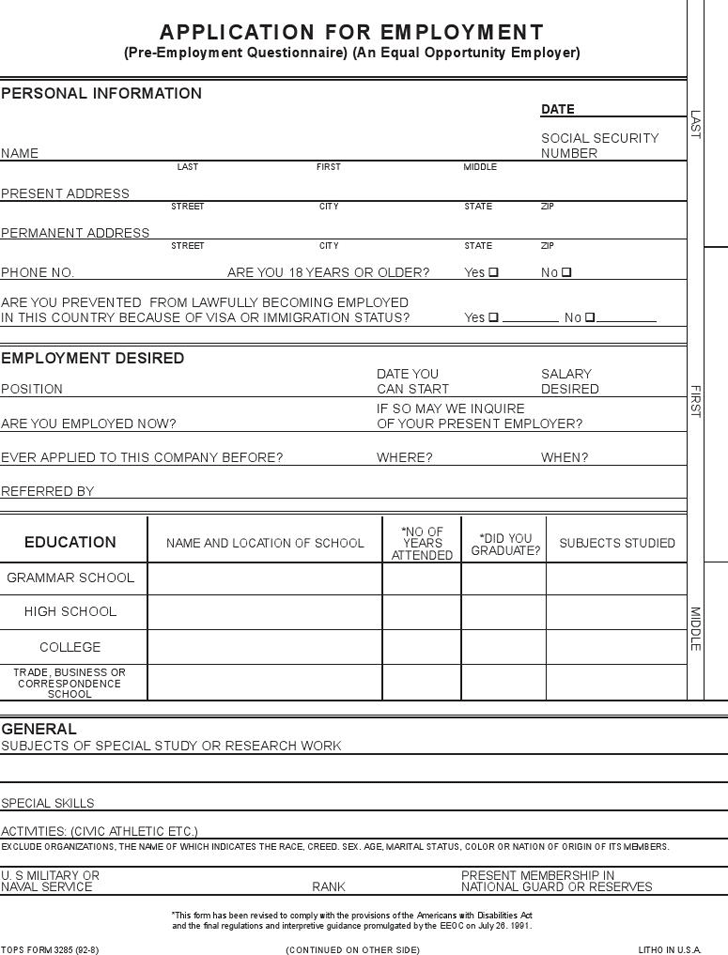 Conveniently make your application letter without breaking a sweat from hundreds of … Blank Job Application Template Free Download Speedy Template