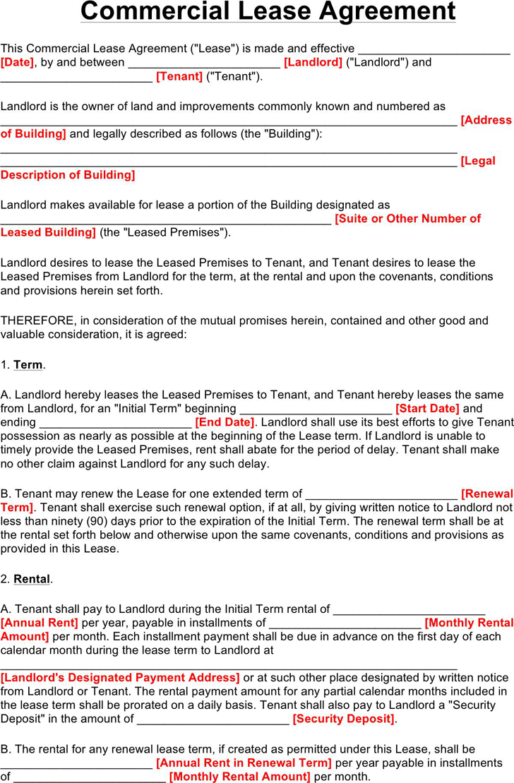 Commercial Lease Agreement 2