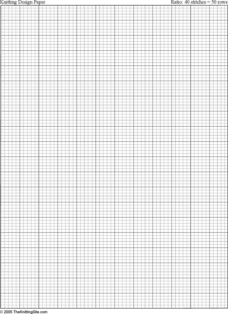 Free Letter Sized Knitting Graph Paper, Ratio 4:5