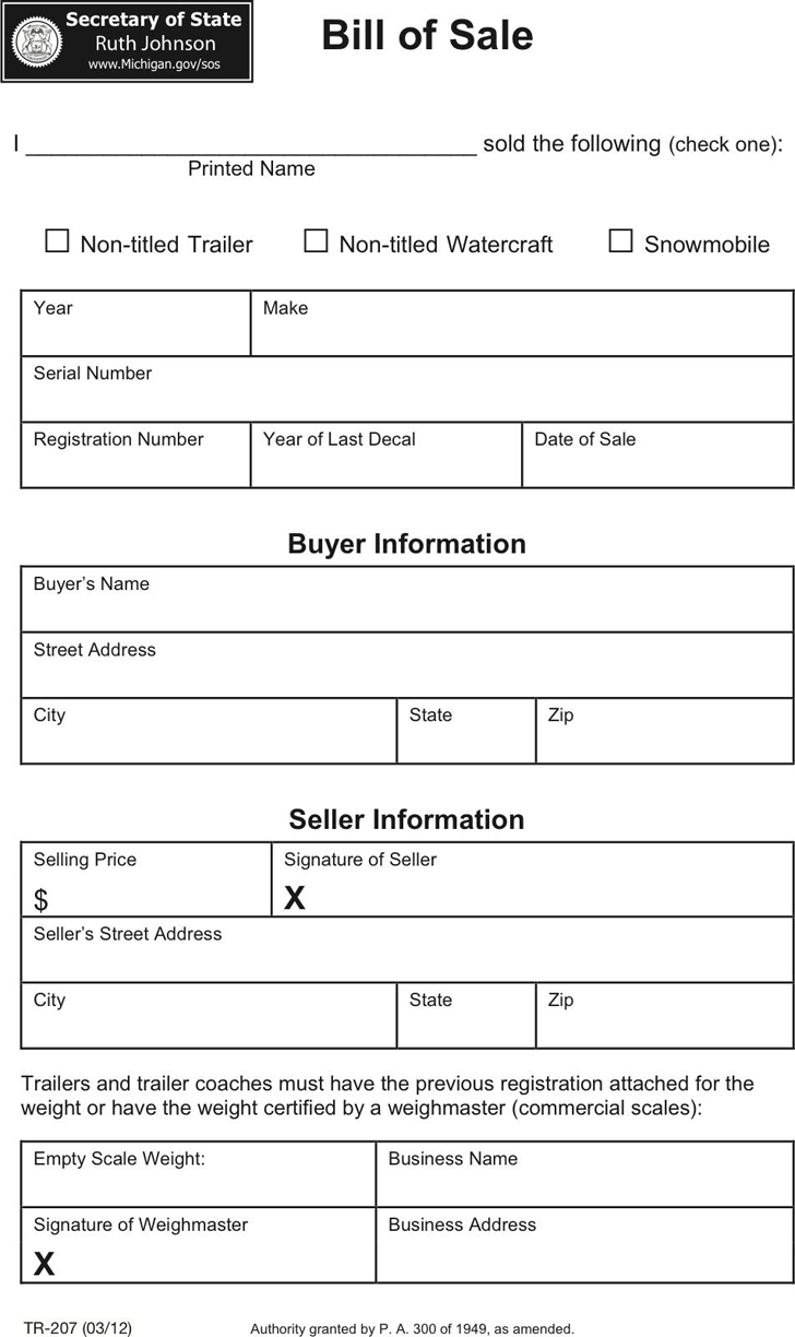 Bill of Sale Template - Free Template Download,Customize and Print