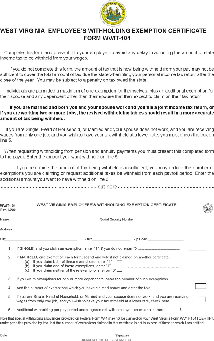 State Tax Withholding Forms