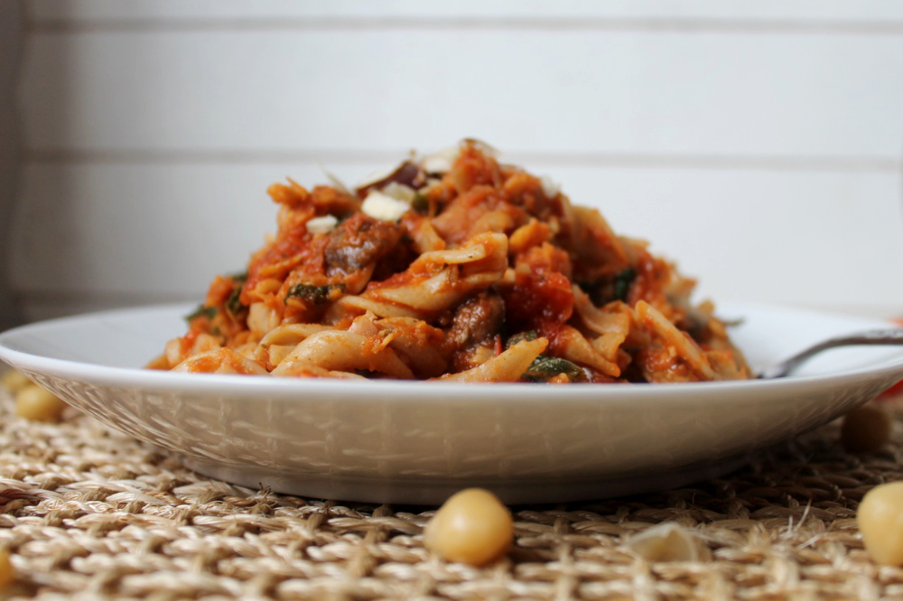 Savoury Spicy Chickpea Pasta