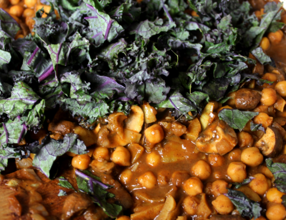 Channa Masala with mushrooms