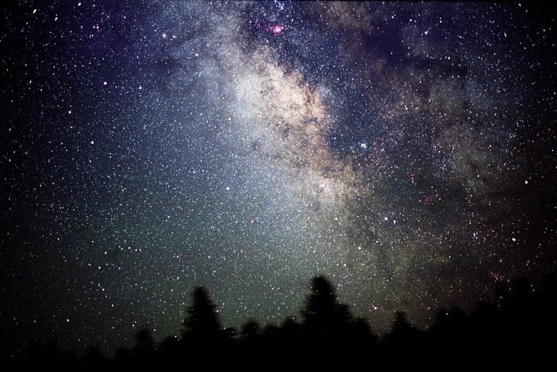 De Melkwegband aan de hemel