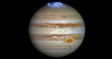 Jupiter met poolicht